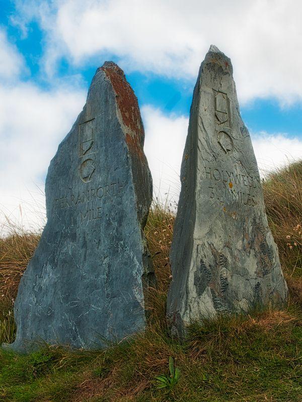 Milestones On SW Coast Path