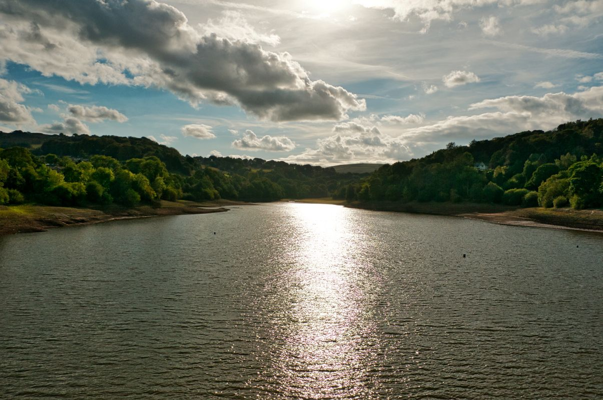 Toddbrook Reservoir from the dam,