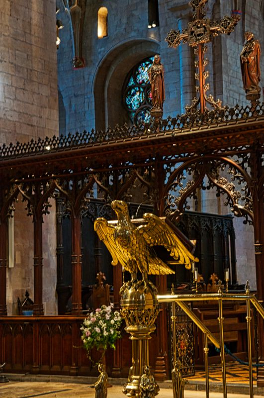 Eagle Lectern In Tewkesbury Abbey