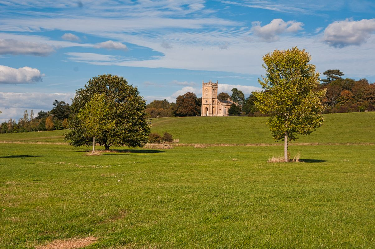 View up to St Mary Magdalene Church, Croome