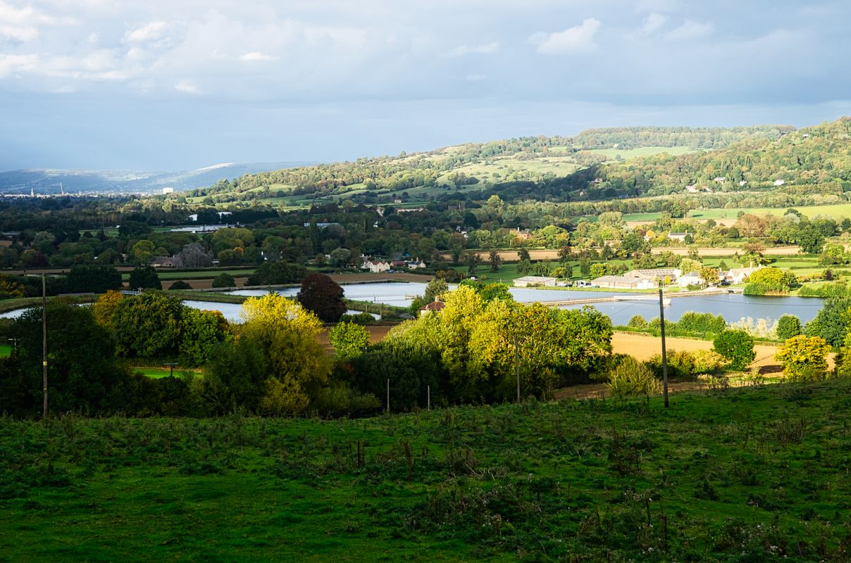 Break in the Clouds over Witcombe Reservoirs