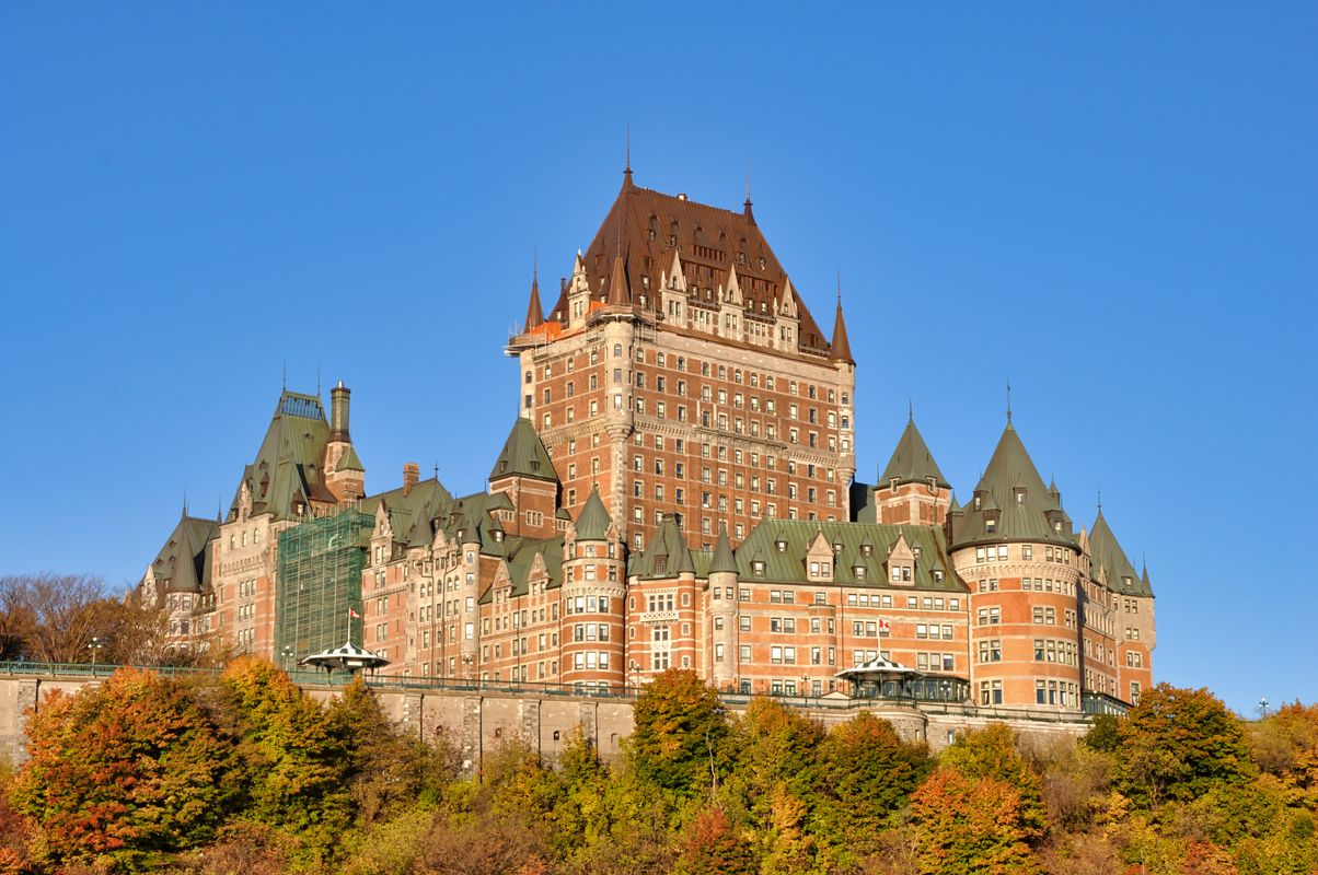 Great fall colors with Chateau Frontenac
