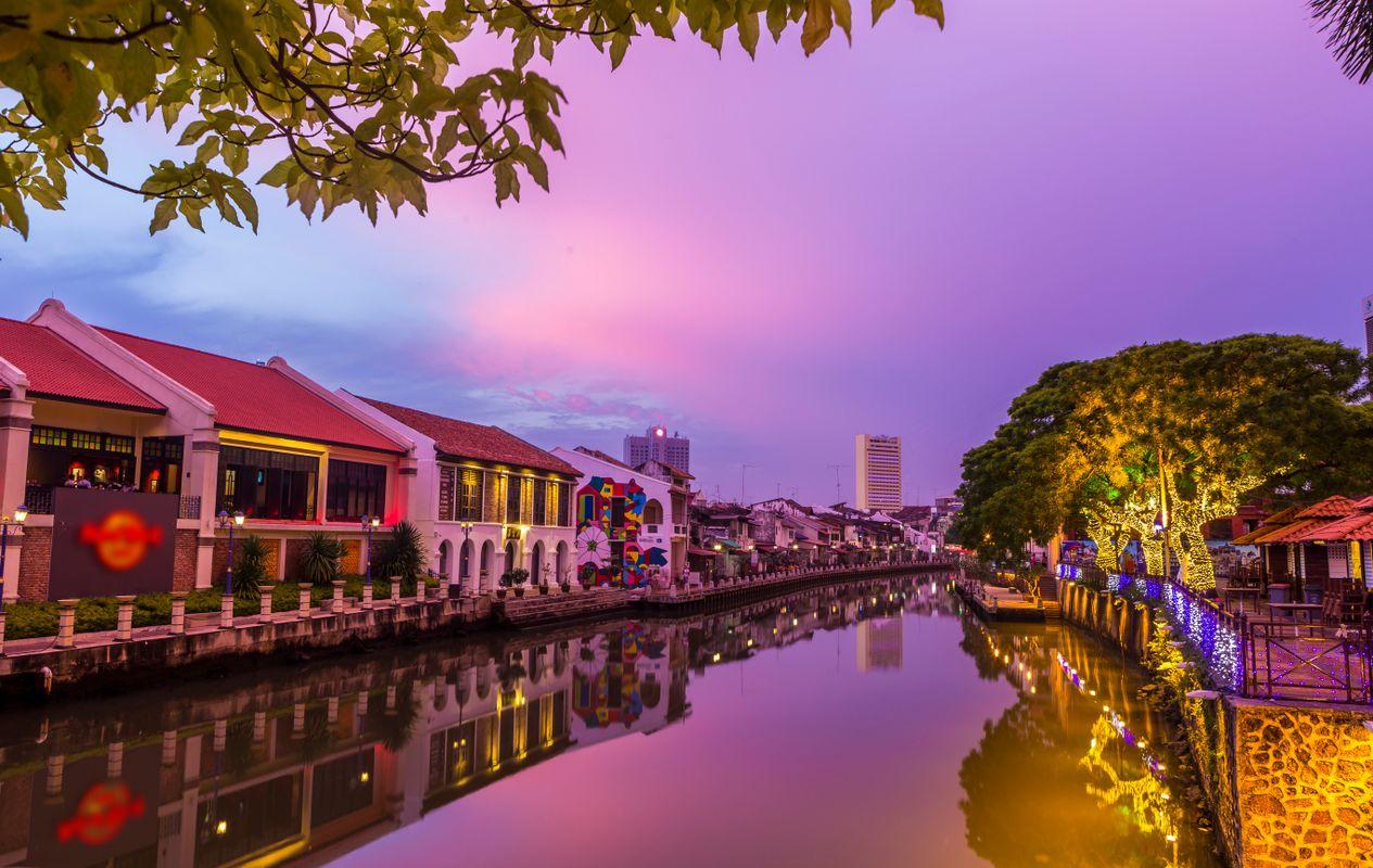 Sunset on Malacca
