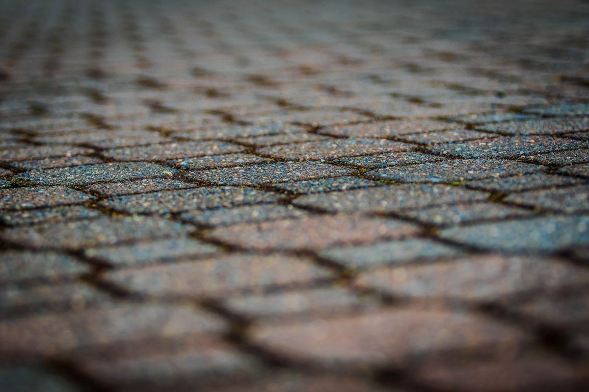 Cobblestone Walkway Low Angle