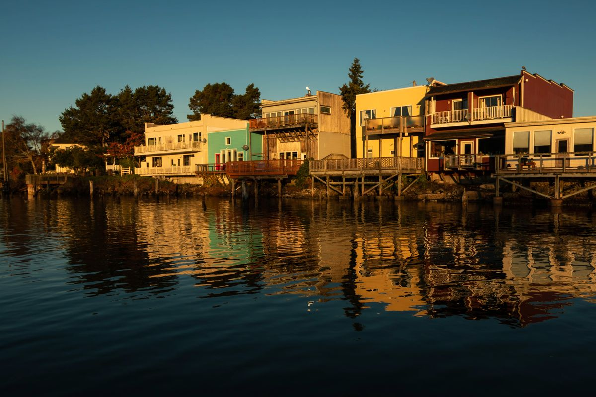 Buildings Reflecting in the Siuslaw River