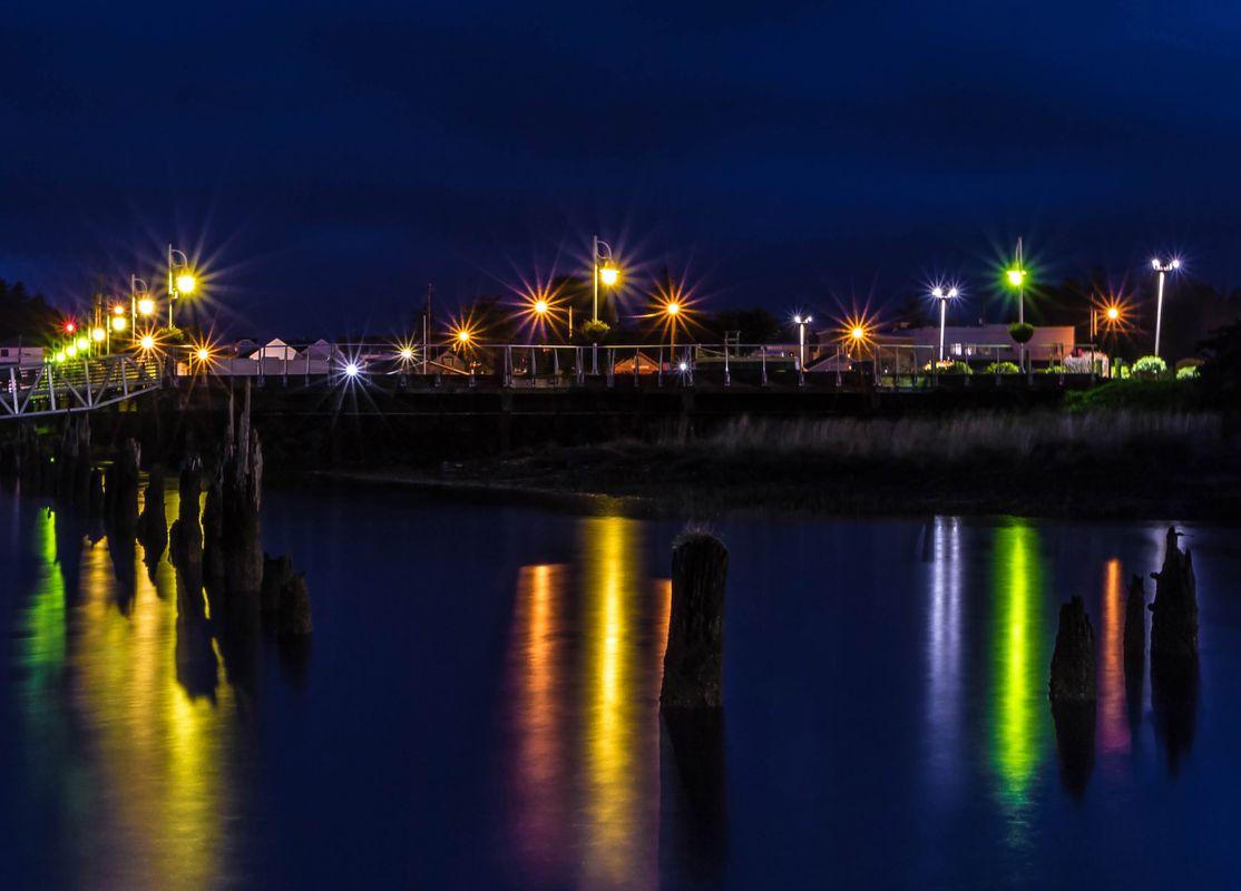 Boardwalk Lights at Dawn