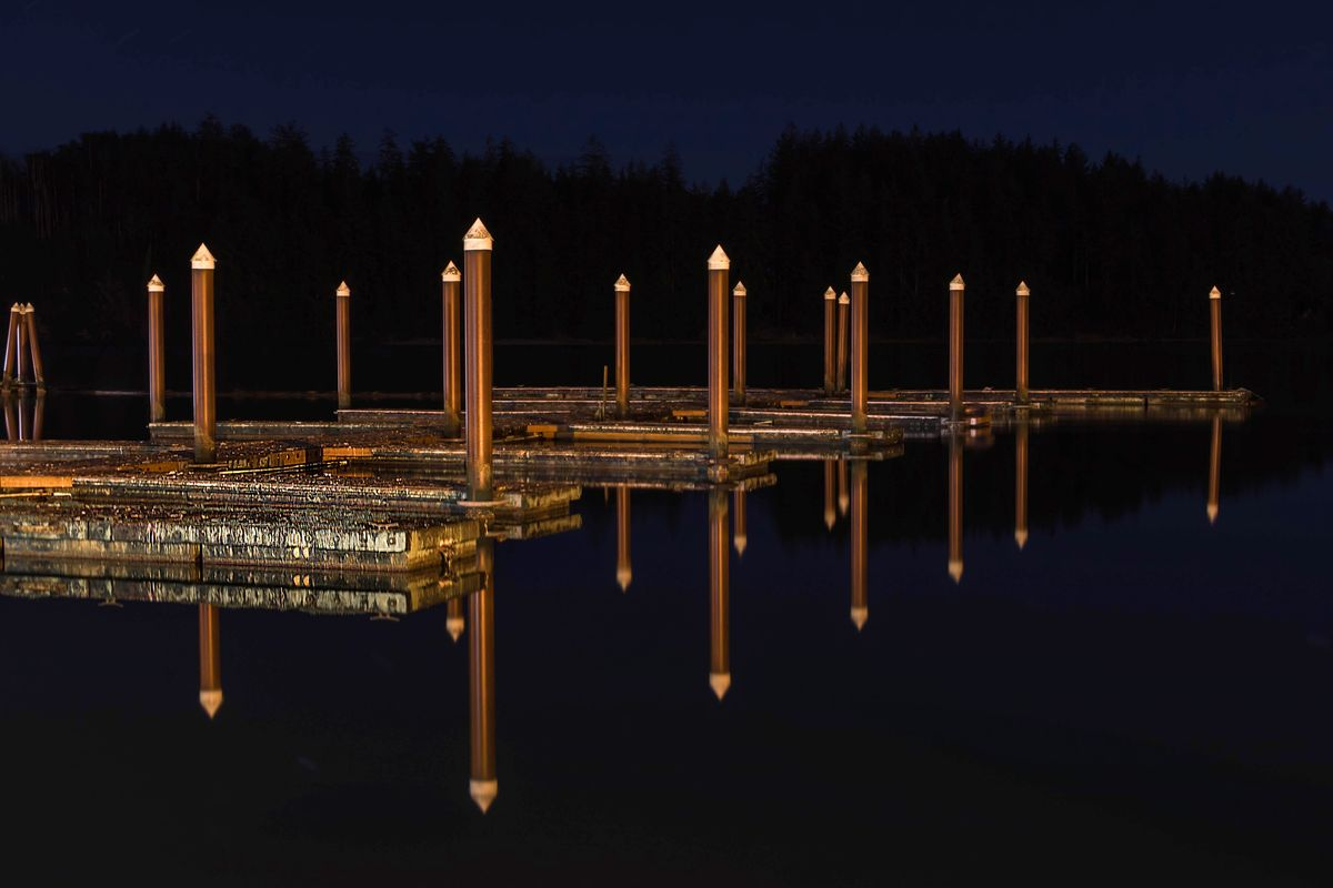 Boat Dock Reflections