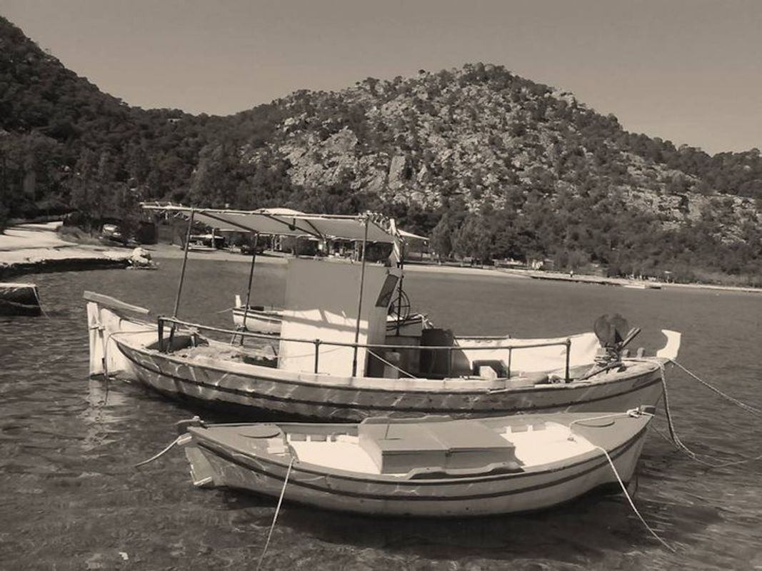 Boats in Tyros Greece