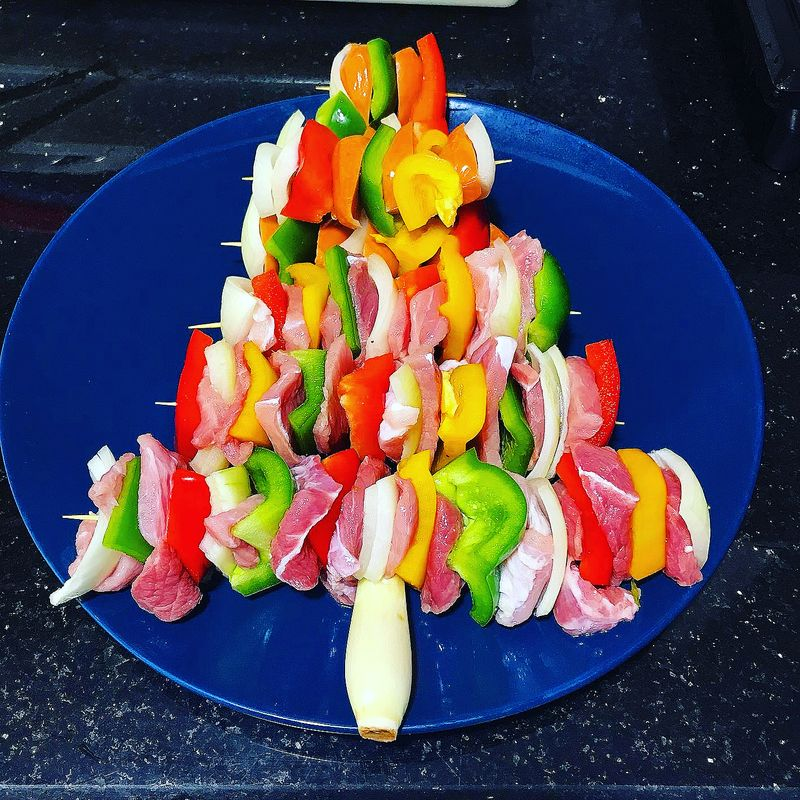 This Christmas tree , Do you want to try making this dish ???. The results will be available on December 24 th