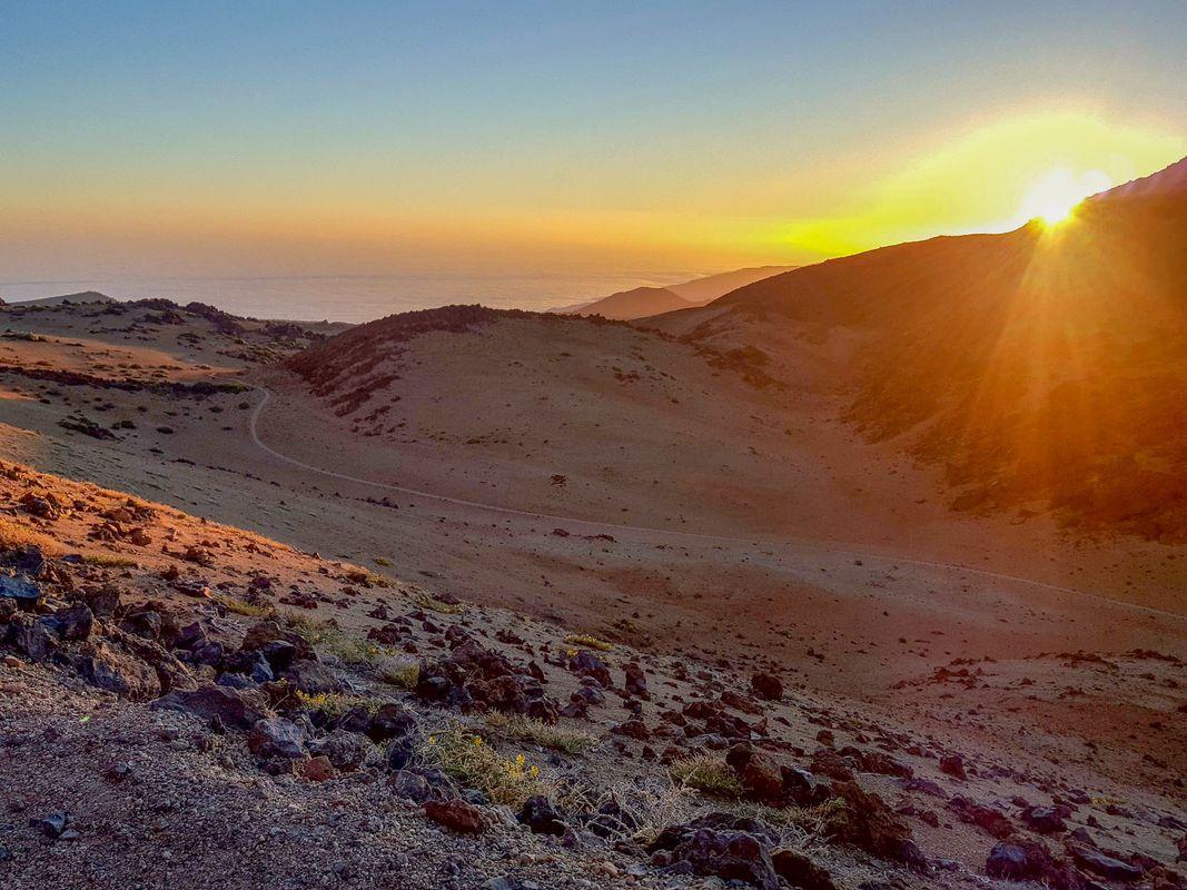 Sunrise at the volcano