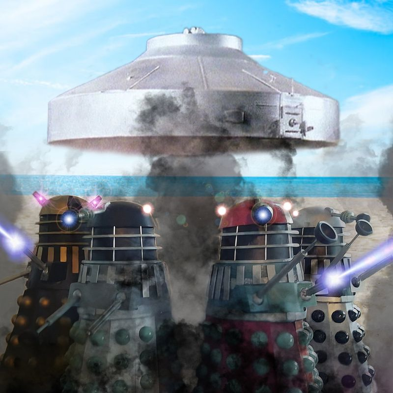 Daleks at the beach - 1st photoshop