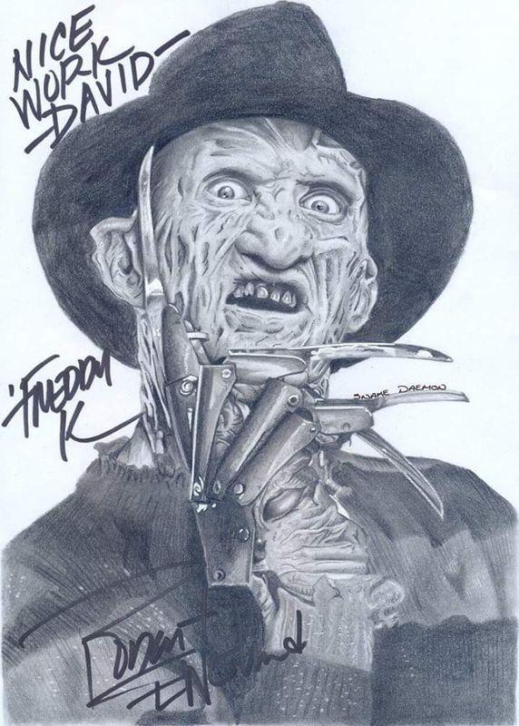 Freddy krueger signed by robert englund