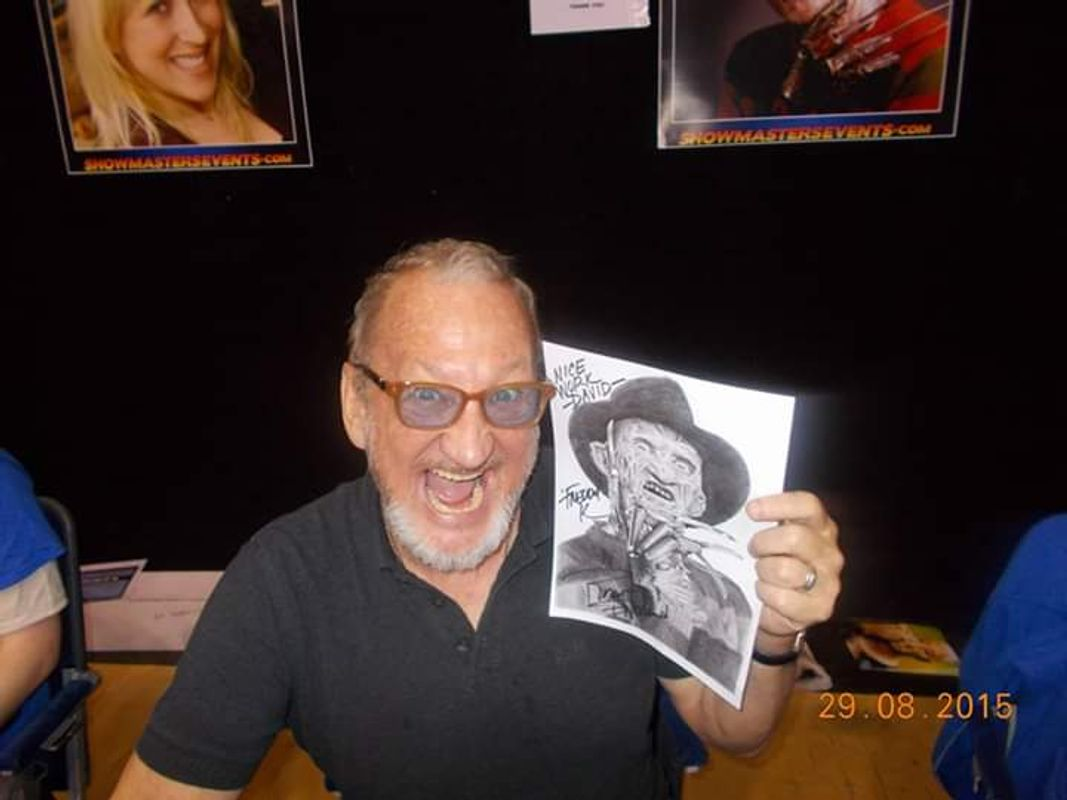 Robert Englund signed my drawing
