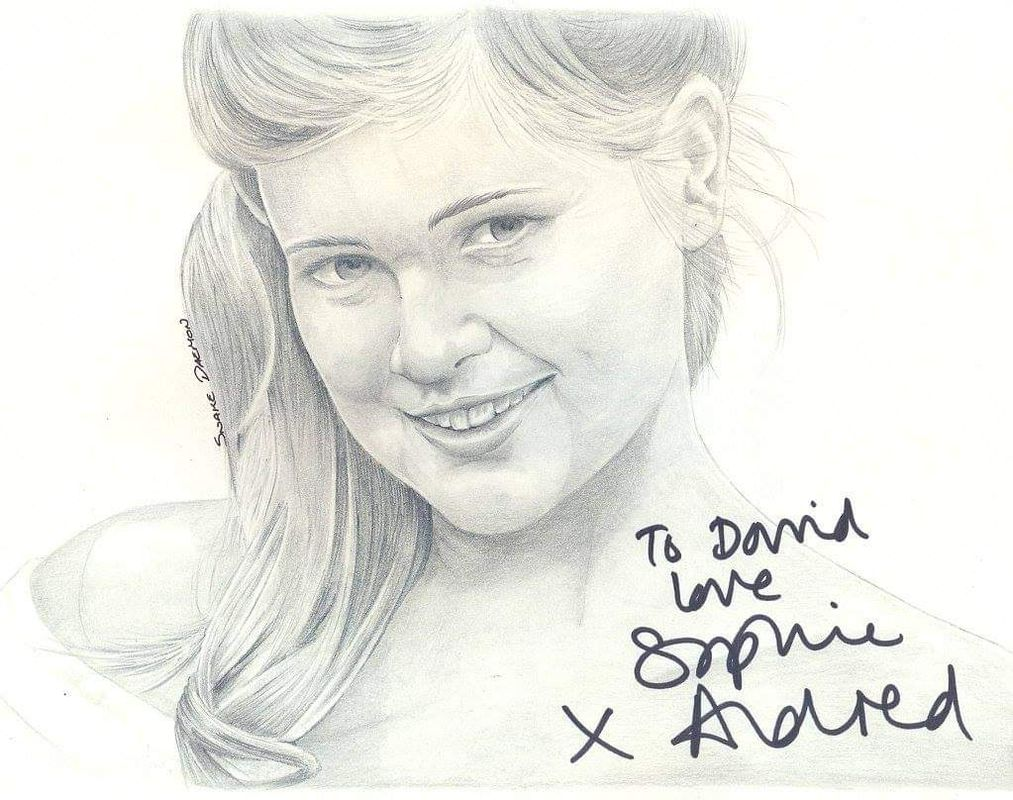Sophie Alfred signed drawing