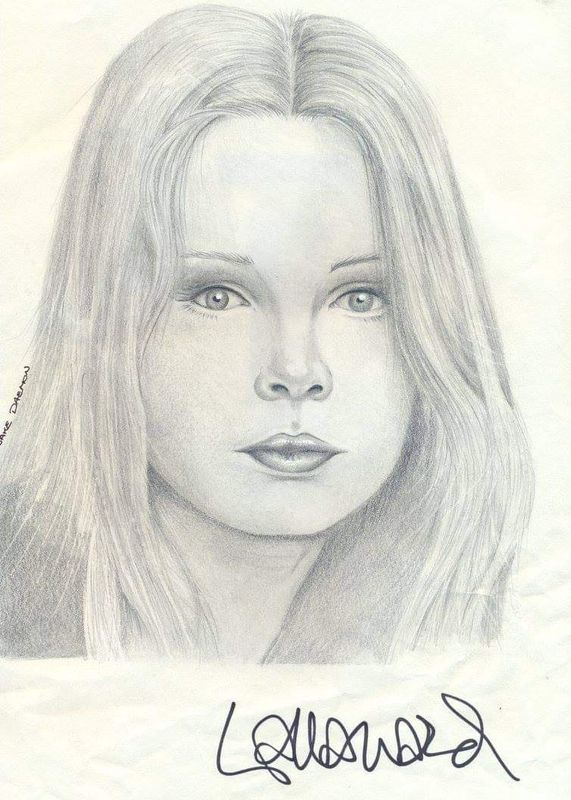 Lalla ward signed drawing