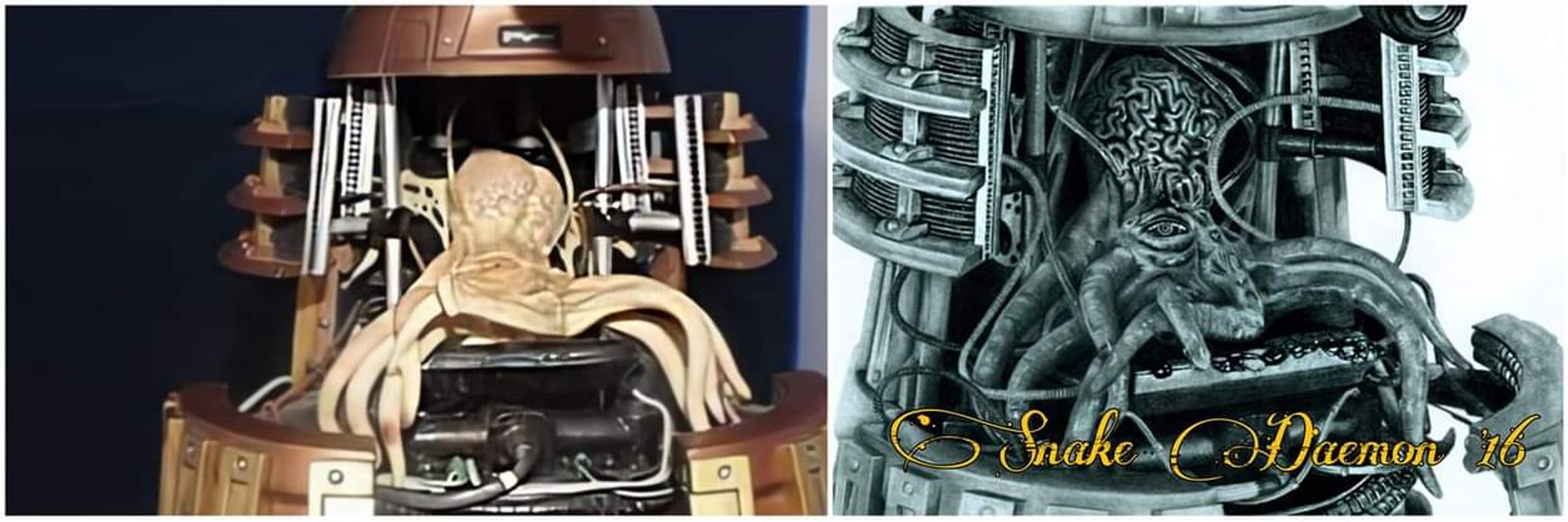 Dalek - figure/drawing comparison