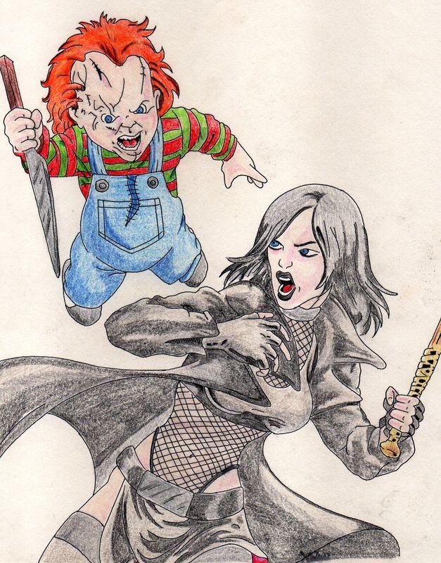 Chucky attacks