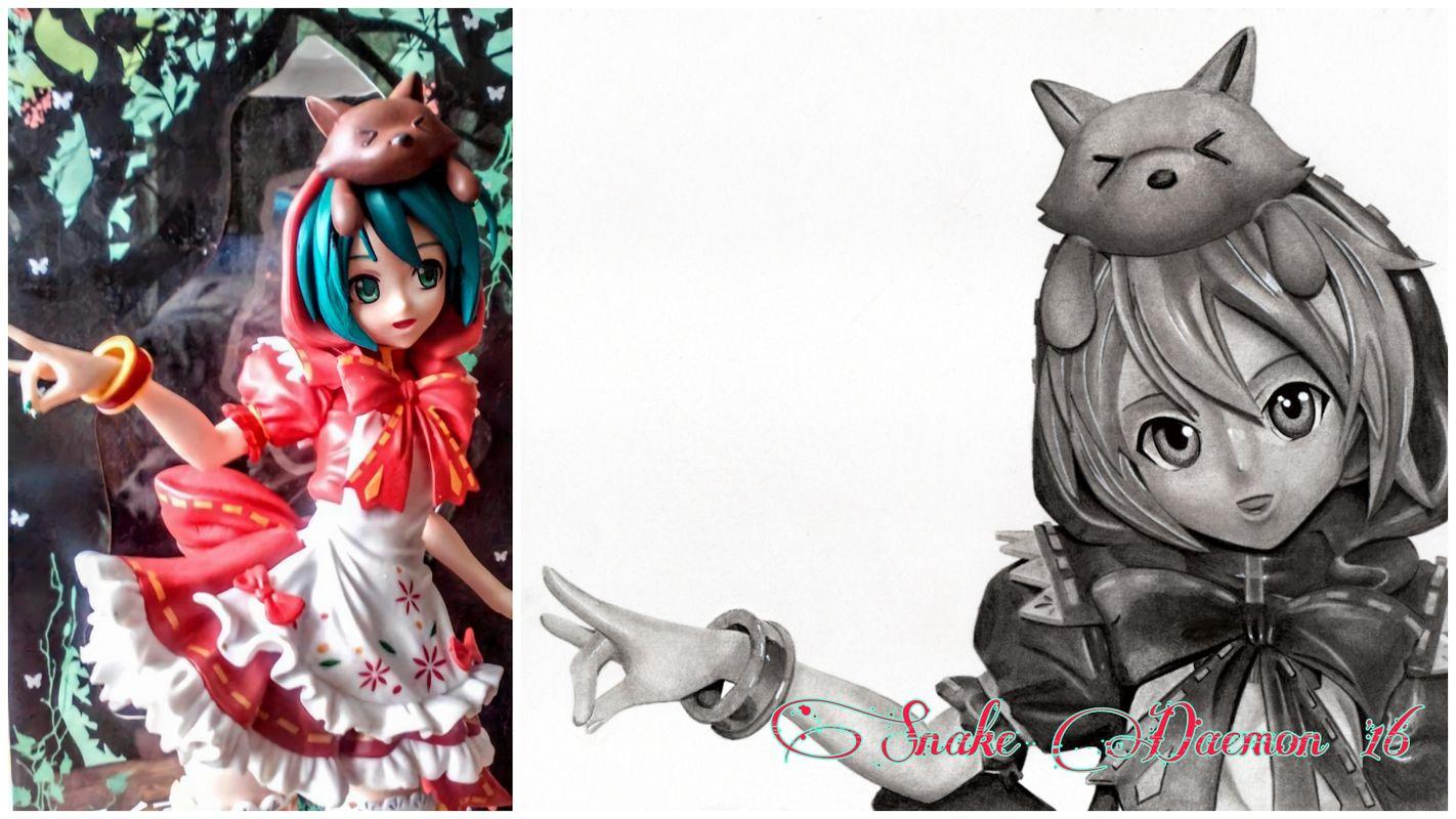 Hatsune Miku - figure/drawing comparison