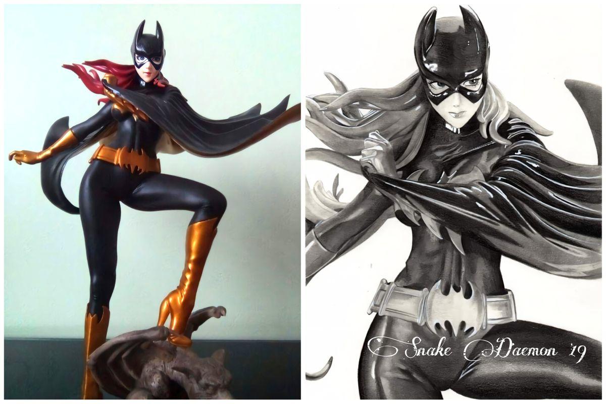 Batgirl - figure/drawing comparison
