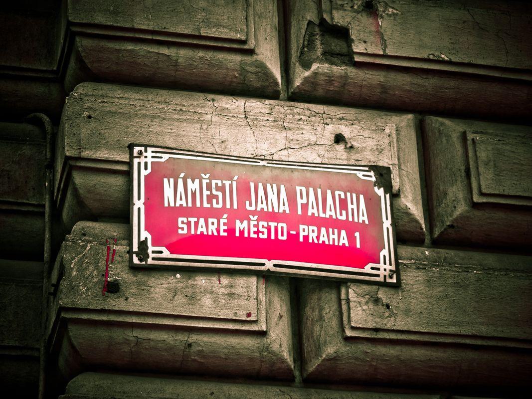 Prague Street Sign