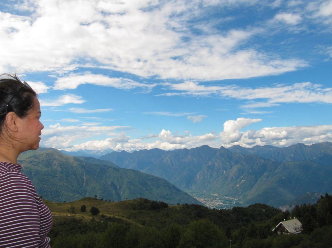 Into the Alps to Switzerland.