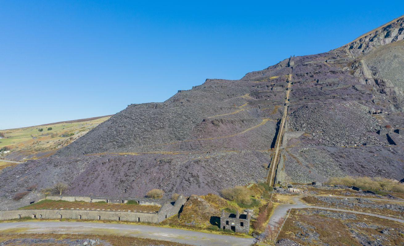 Llanberis, View from Dinorwig Quarry across Llyn Padarn