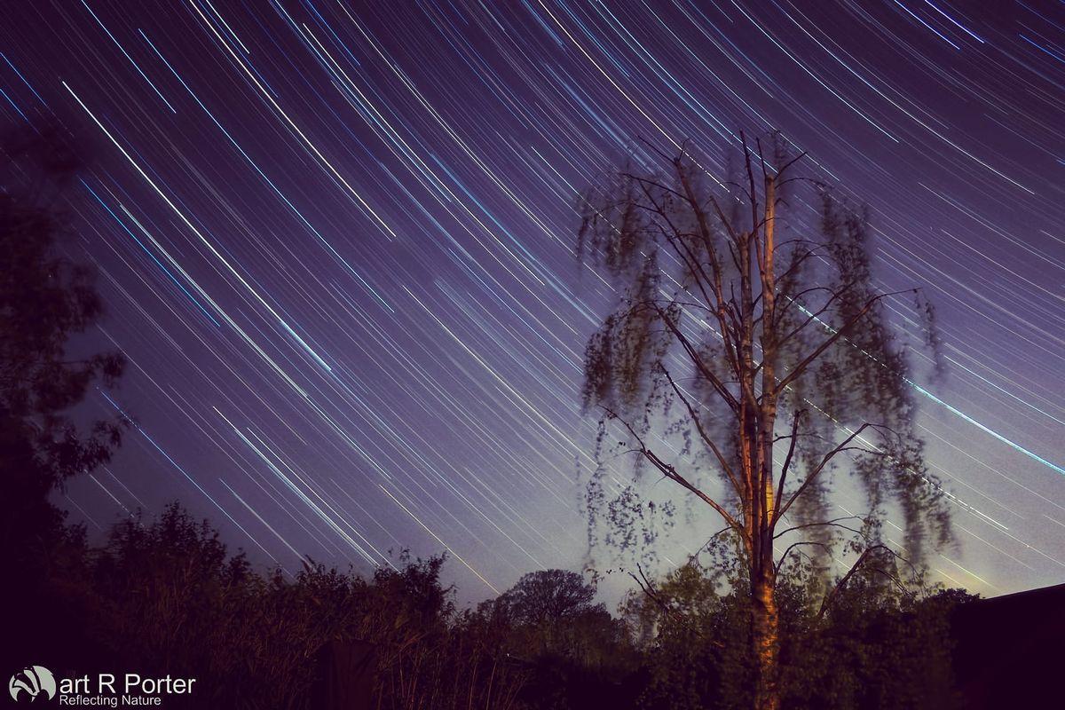 Back garden star trails