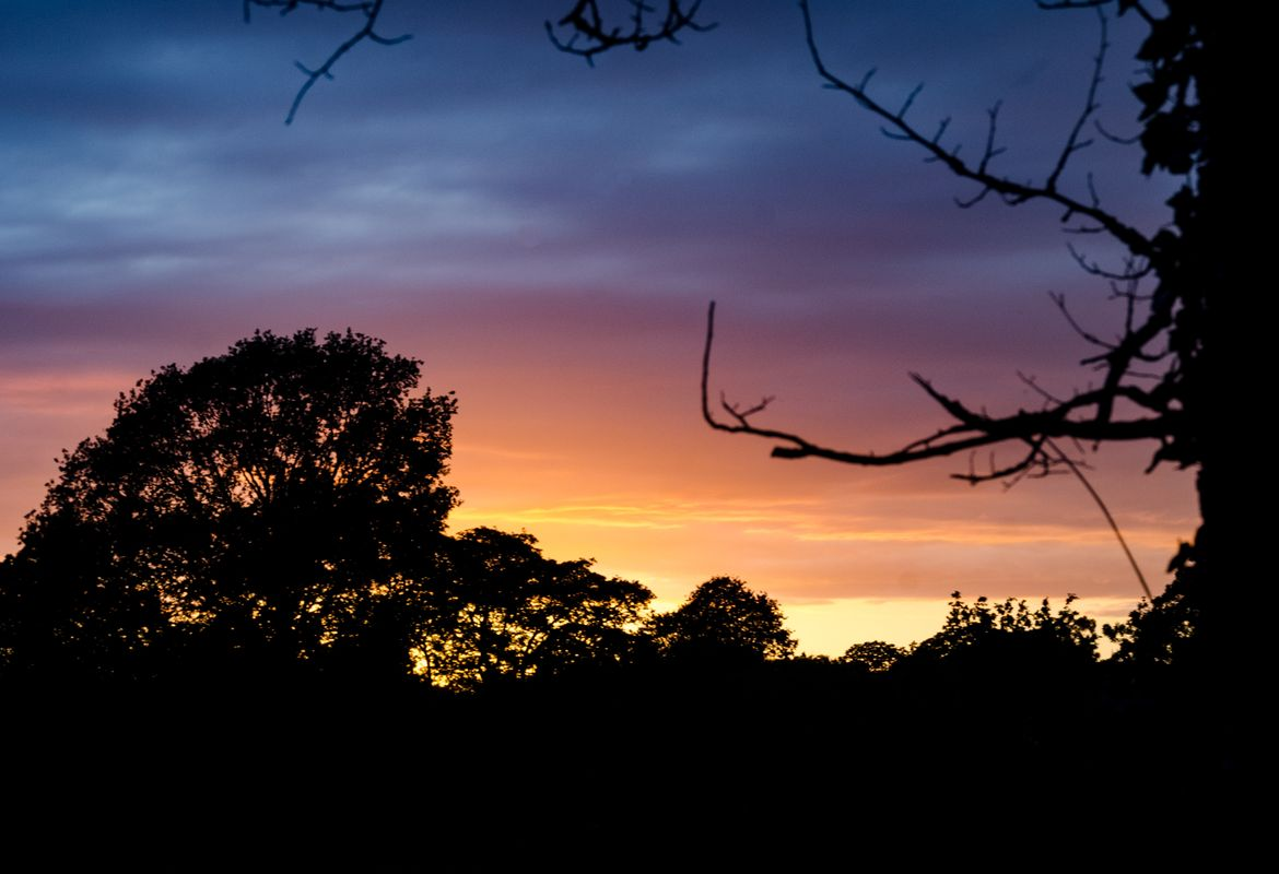 Last nights sunset included a wild blend of colours...