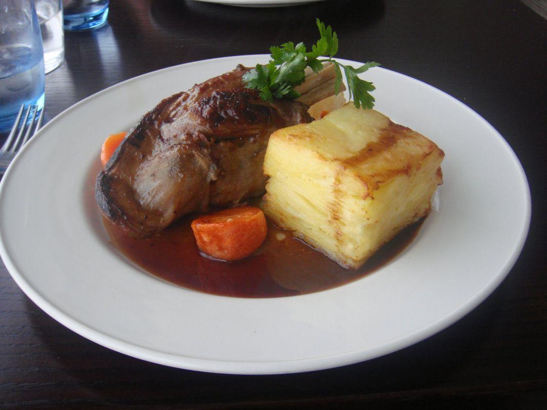 Irish Food Roasted Leg of Lamb With Mashed Potato And Gravy