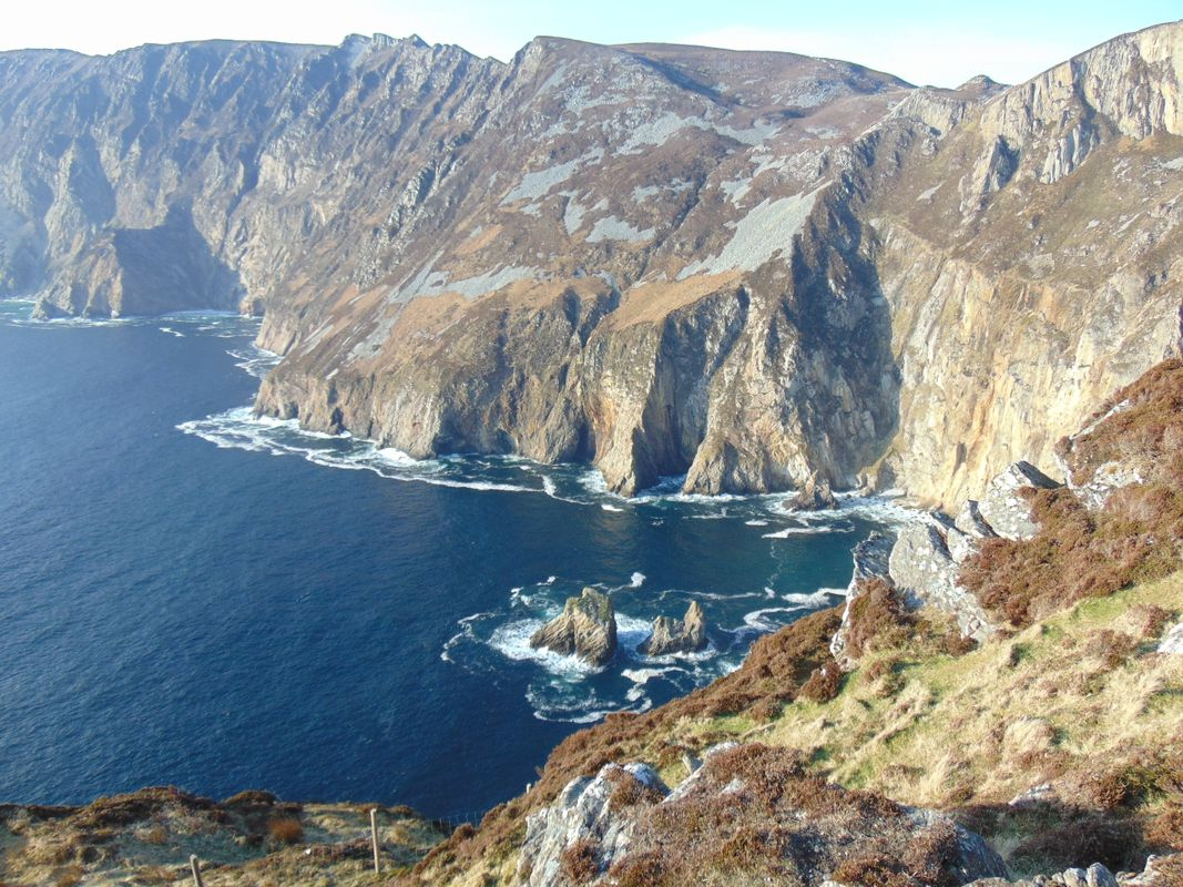 Slieve League (Sliabh Liag) Mountain Sea Cliffs Donegal Ireland