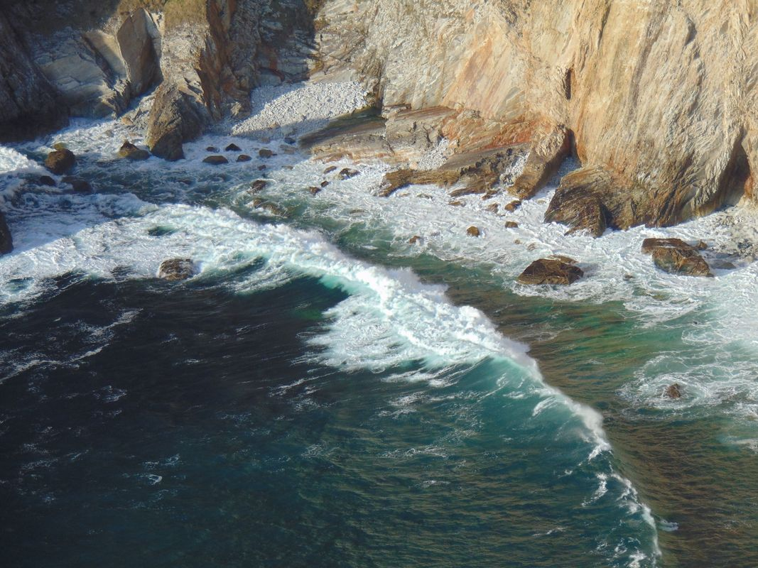 Sea Foam Separated by a Line of Sea Water in Slieve League (Sliabh Liag) Donegal Ireland