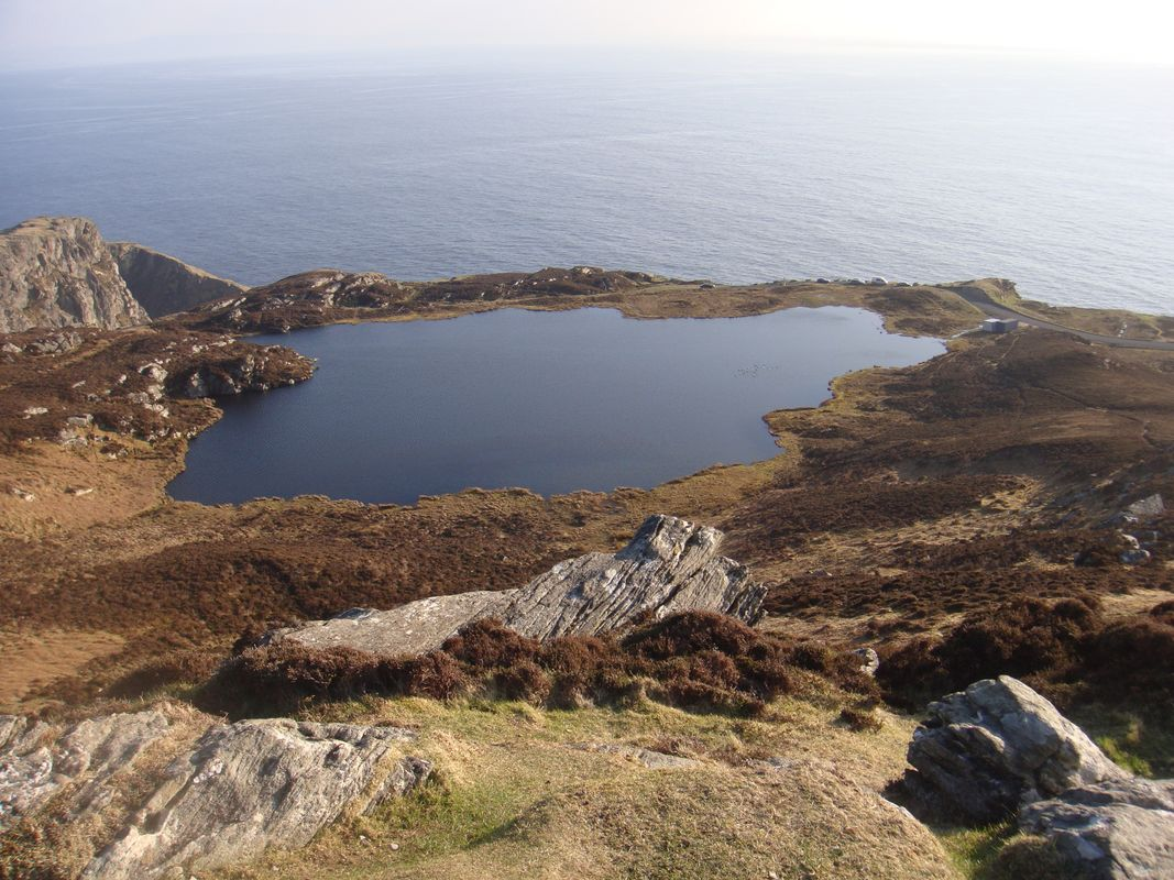 Swamp Beside The Sea In Slieve League (Sliabh Liag) Donegal Ireland