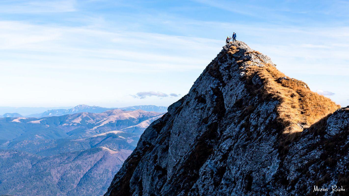 Mountain ridge silhouettes
