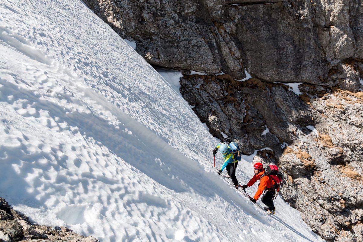 Icy gully