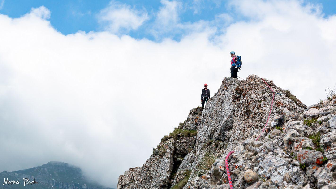 Climbing towards clouds
