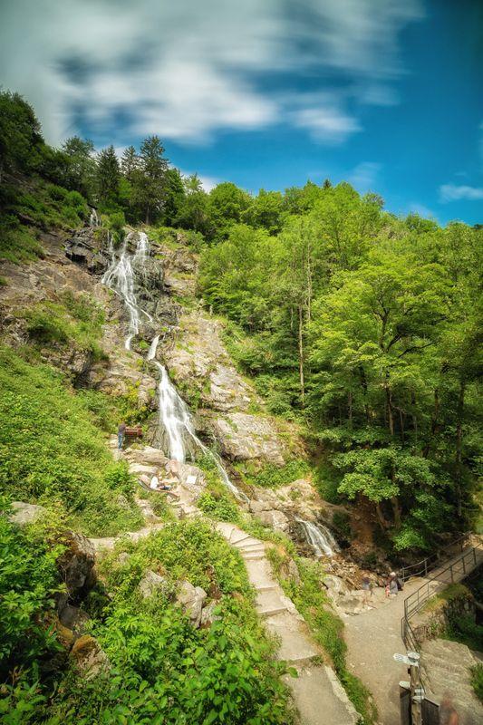 Waterfall Todtnau - the whole one