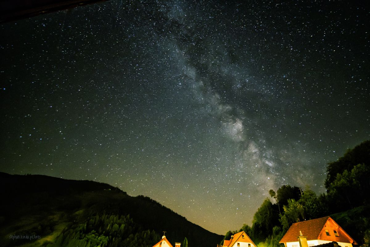 Milky Way over Todtnau
