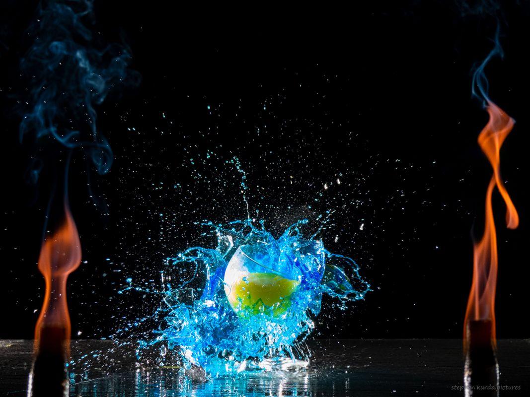 Fire smash blue