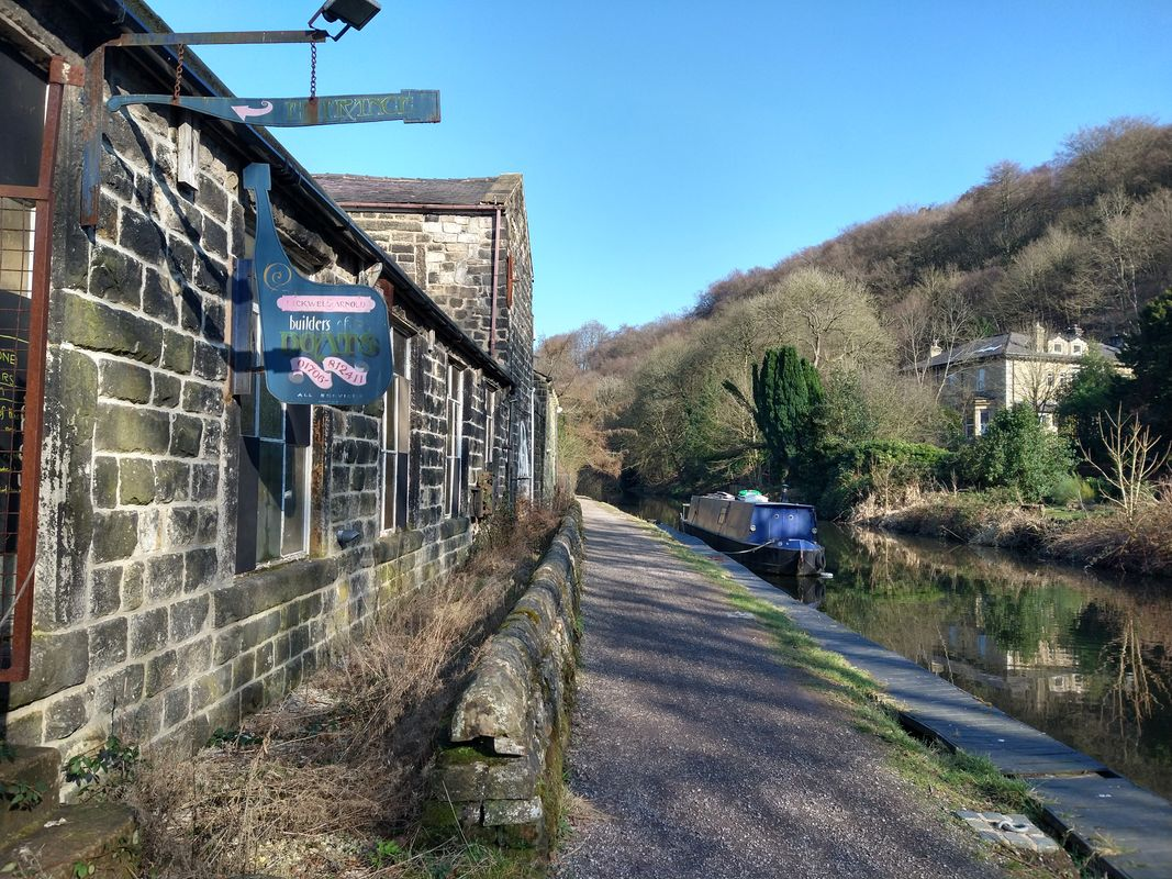 Boat by canal at Todmorden