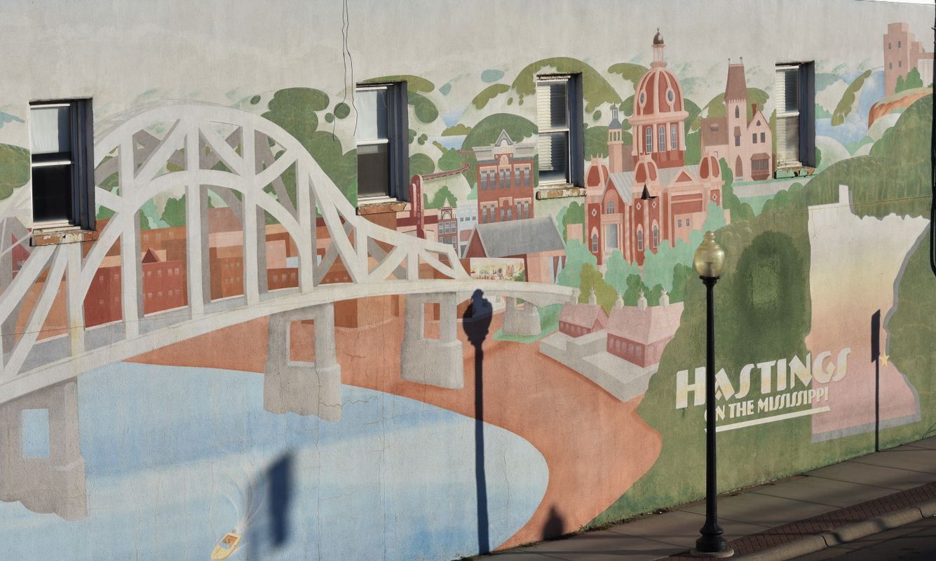 Mural of downtown