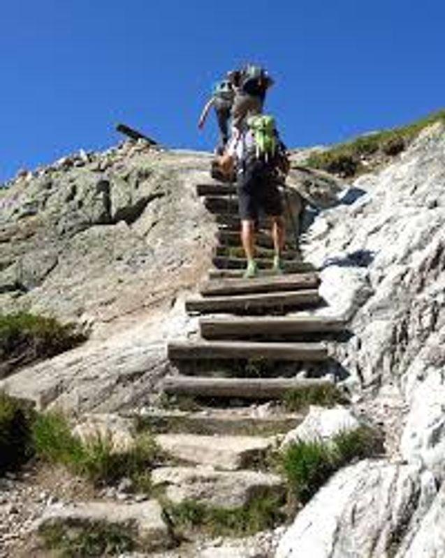 Randonnée stairs