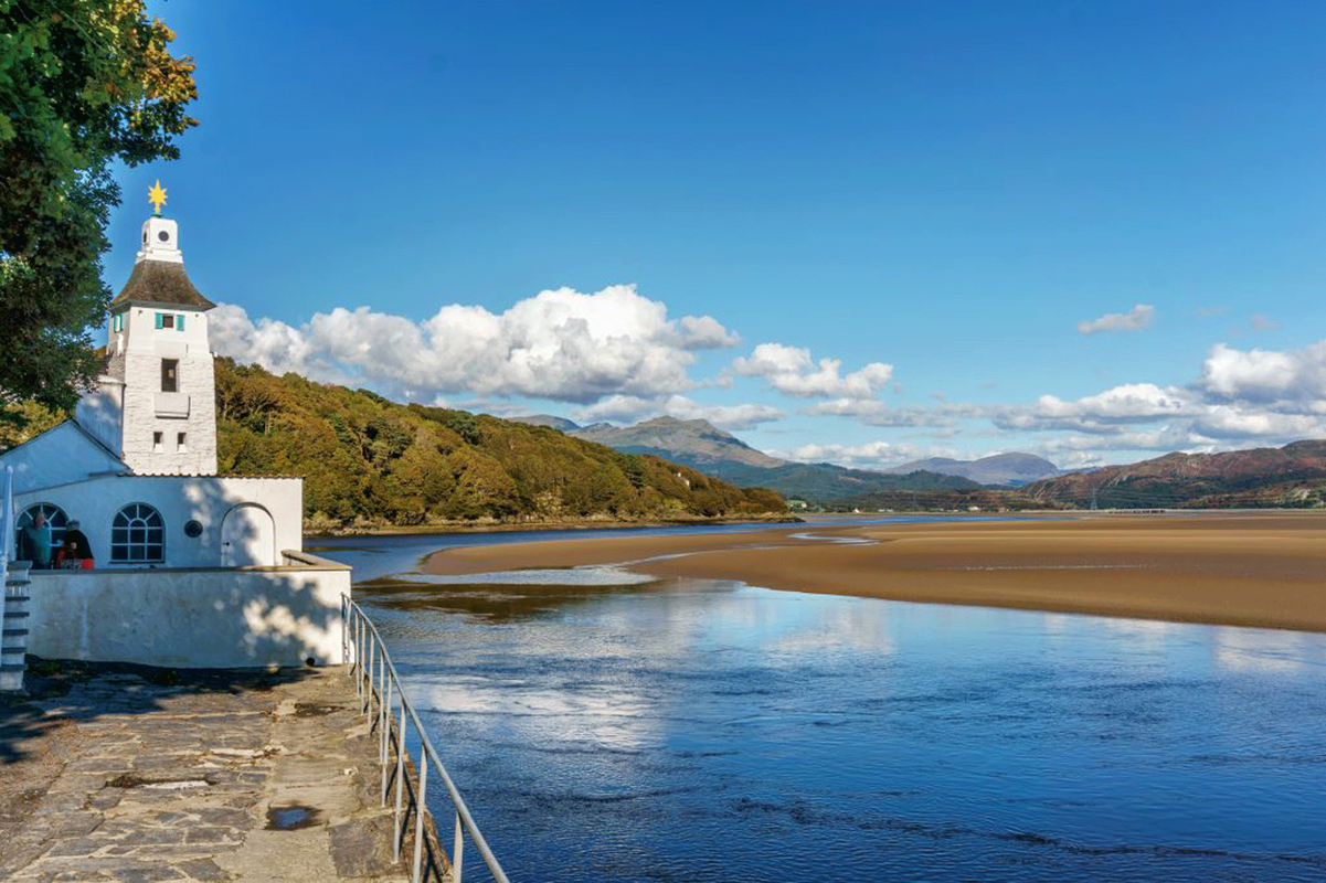 View from Portmeirion Village