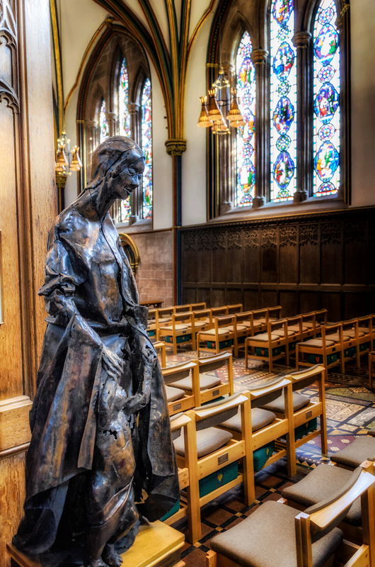 Saint Werburgh wood carving, Chester Cathedral