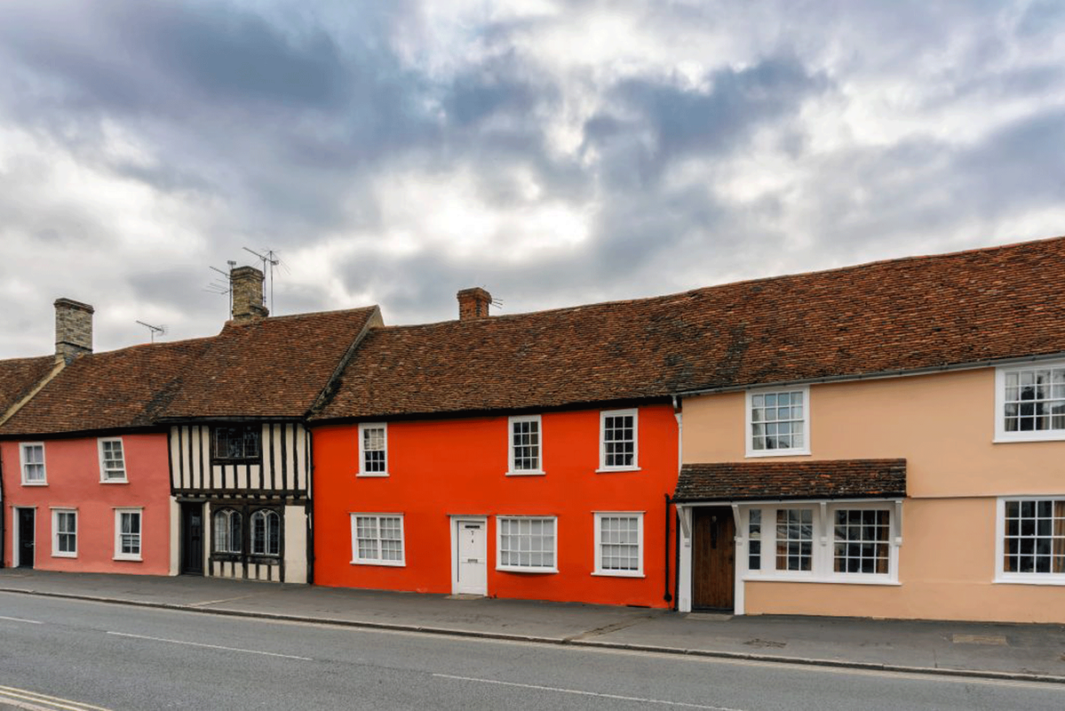 Cottages at Thaxted, Essex