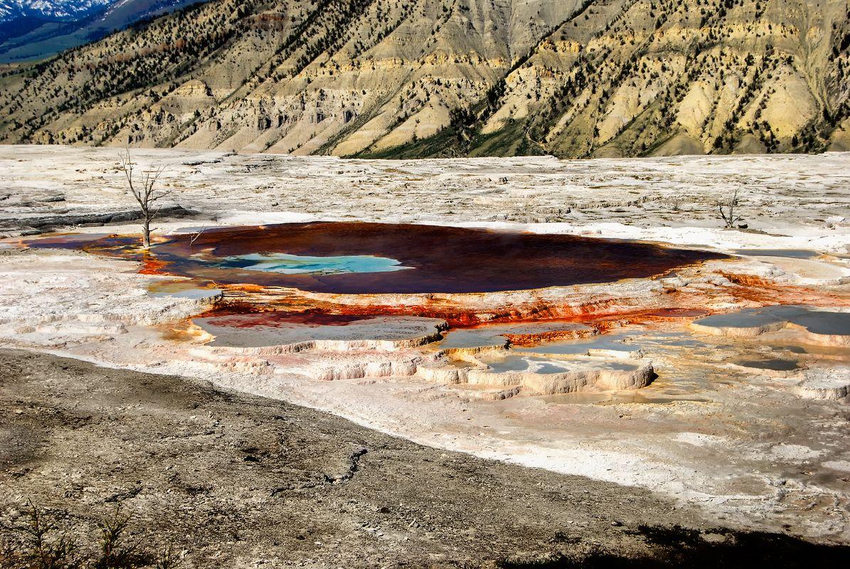 Mammoth Hot Springs at Yellowstone National Park, Wyoming, U.S.