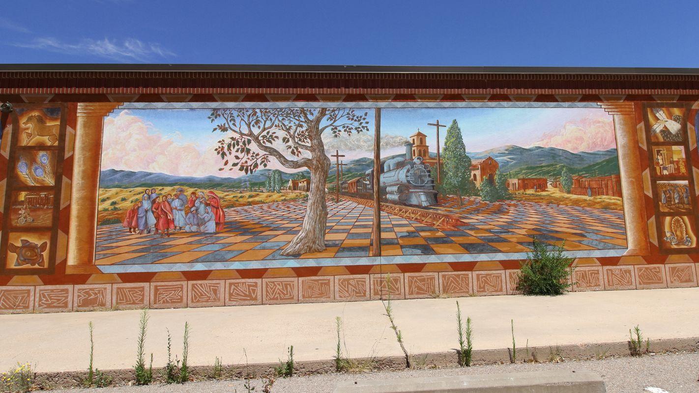 Early Life in Old Santa Fe.Mural 5 Santa Fe NM