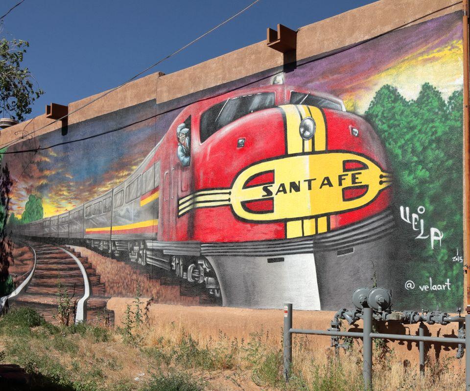 The Old Santa Fe Railraod Mural SFNM