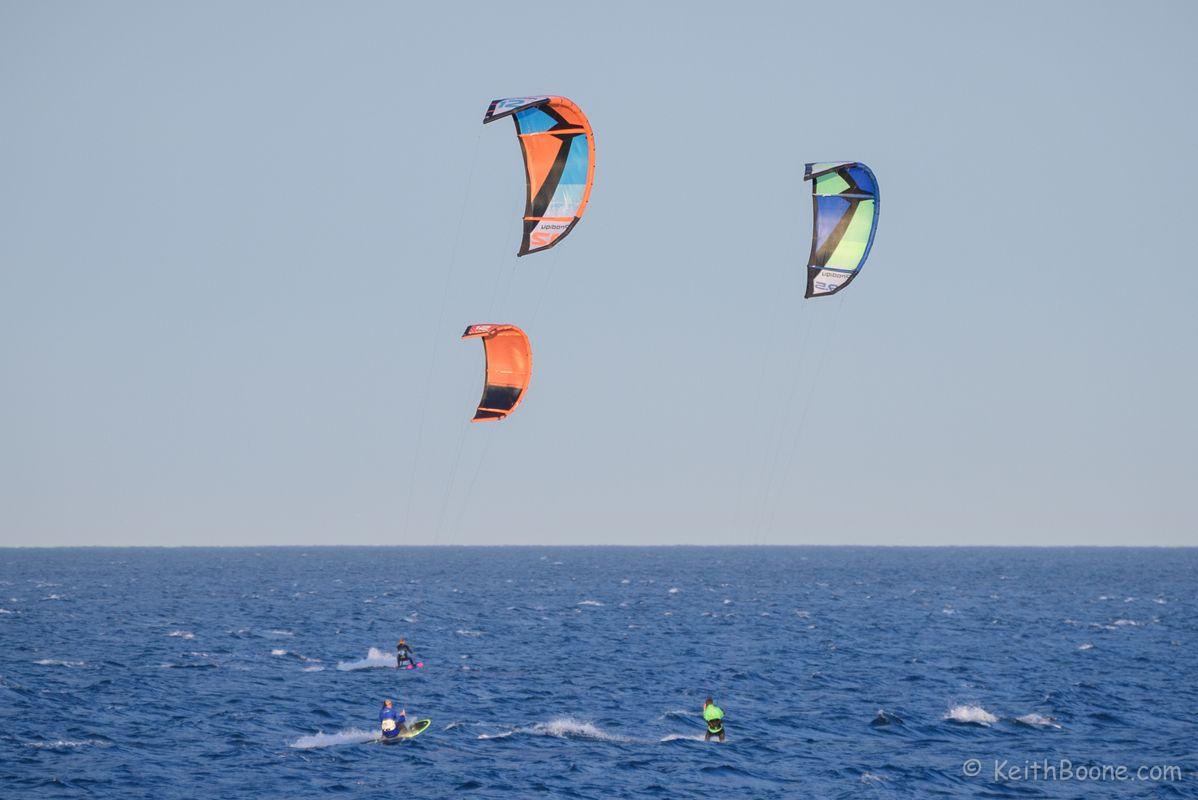 Three Kitesurfers