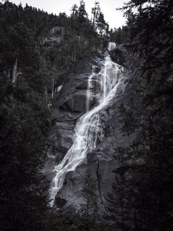 Shannon Falls in Monochrome