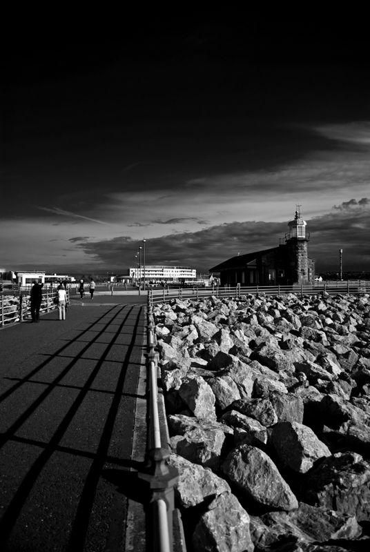 Morecambe stone jetty dramatic sky
